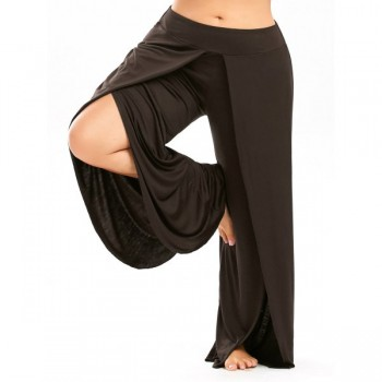 Wide Leg Pants with Side Split